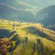 Autumn landscape drone aerial shot in Transylvania, Romania - PhotoDune Item for Sale
