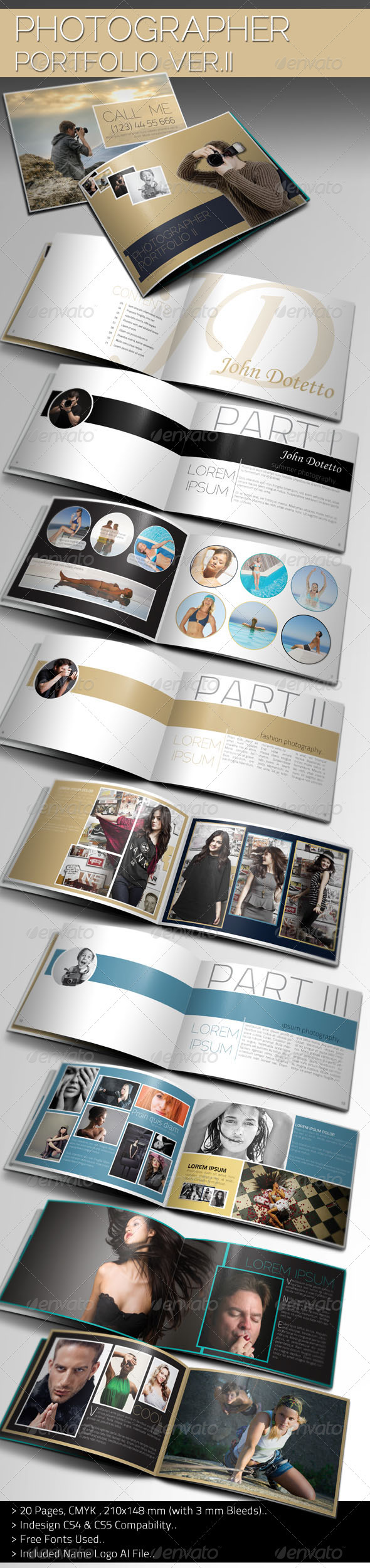 Photographer Portfolio Brochure Template II - Corporate Brochures