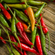 Thai Red and Green Chilis - PhotoDune Item for Sale