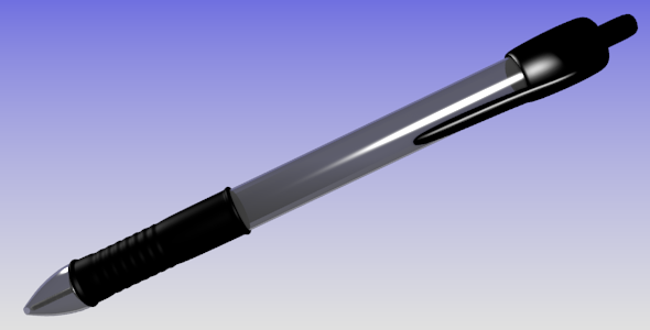 Retractable Ballpoint-Pen - 3DOcean Item for Sale