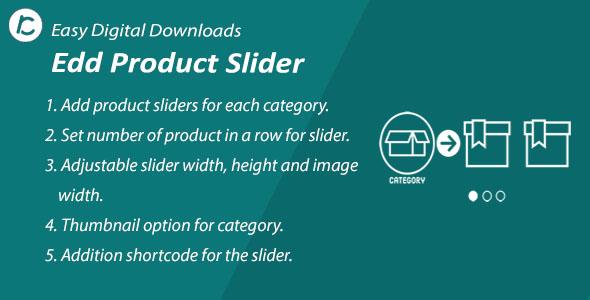 WordPress EDD Product Slider