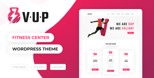 VUP - Fitness Center WordPress Theme