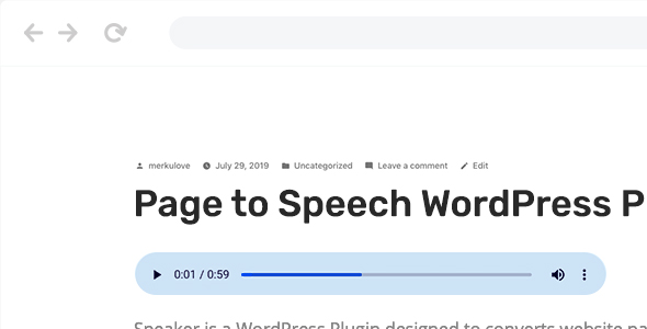 Speaker – Page to Speech Plugin for WordPress