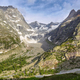 View of mountain peaks with glaciers in Val Ferret, Aosta valley, Italy - PhotoDune Item for Sale