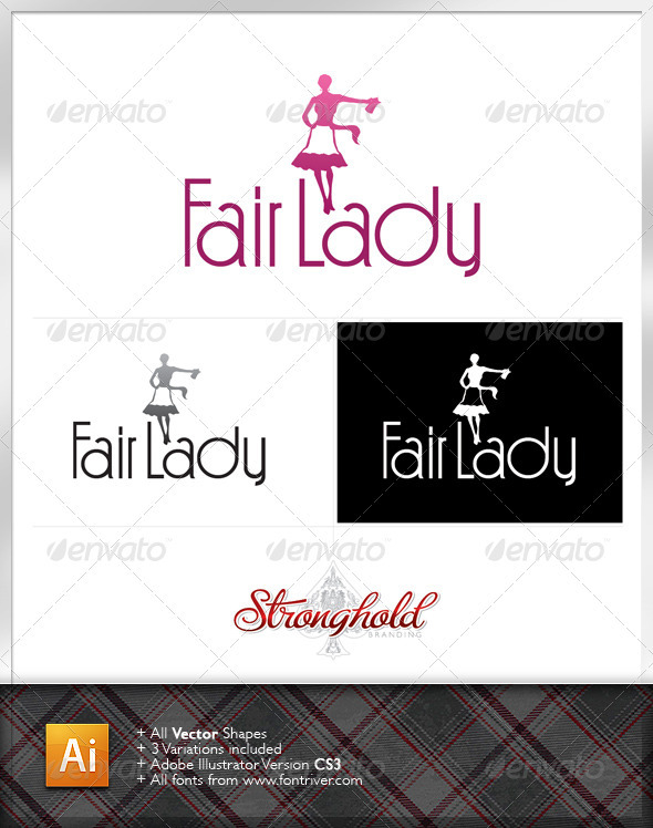 Fair Lady Vintage Logo Template - Humans Logo Templates