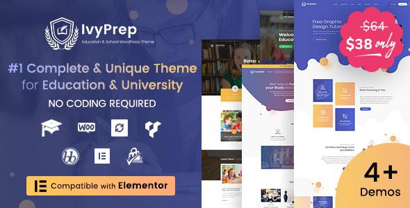 IvyPrep | Education & School WordPress Theme