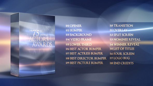 Awards Show Packaging Download