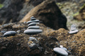 Small Rock cairns in Iceland beach - PhotoDune Item for Sale