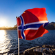 Norway Flag. Beautiful Nature Norway natural landscape. - PhotoDune Item for Sale