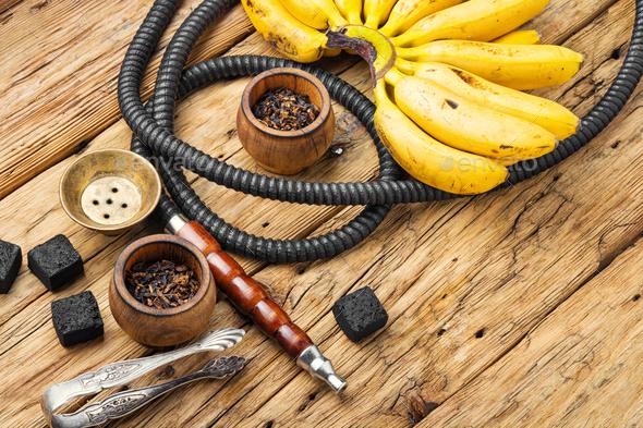 Eastern kalian with banana taste - Stock Photo - Images