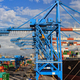 cranes and ship in Genova harbour - PhotoDune Item for Sale