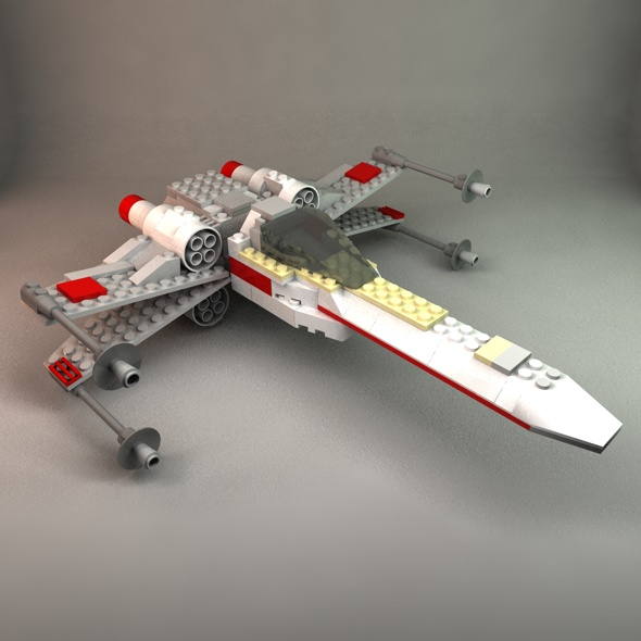 Lego X-Wing - 3DOcean Item for Sale