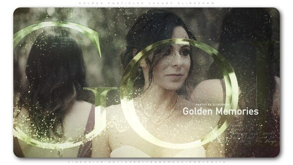 Golden Particles Luxury Slideshow Download