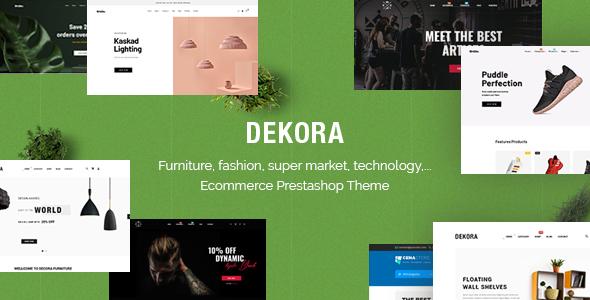 Dekora - Multipurpose Responsive Prestashop 1.7.6.x, 1.7.5.x Theme
