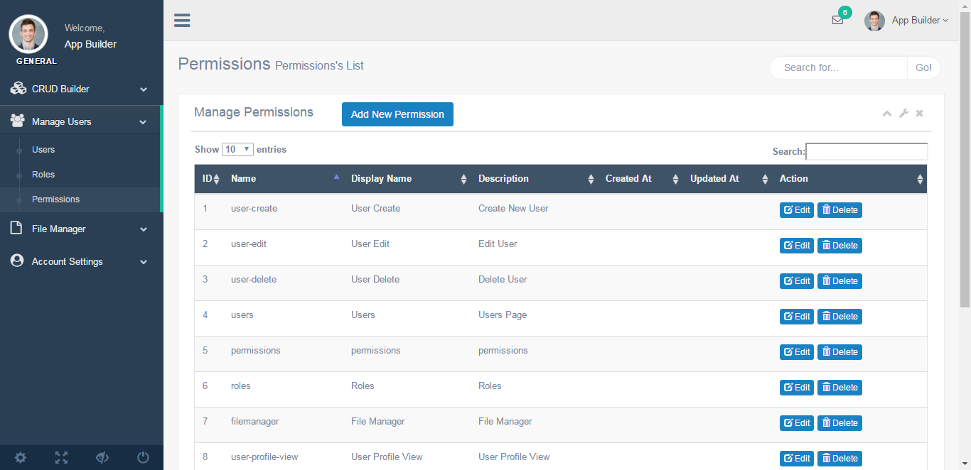 Laravel Admin Builder - Angular CRUD+Users,Roles,Permission +Files Manager  by ramydev