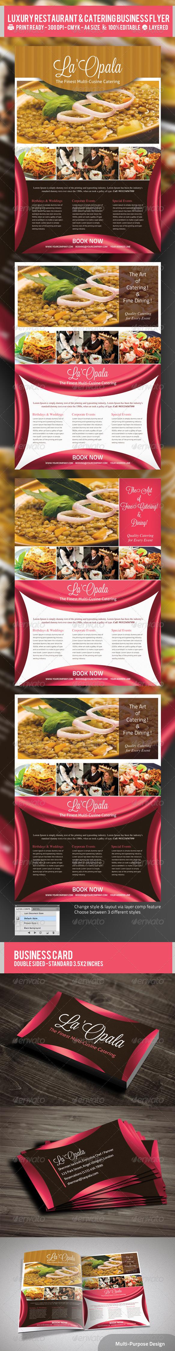 catering flyer templates free premium designs