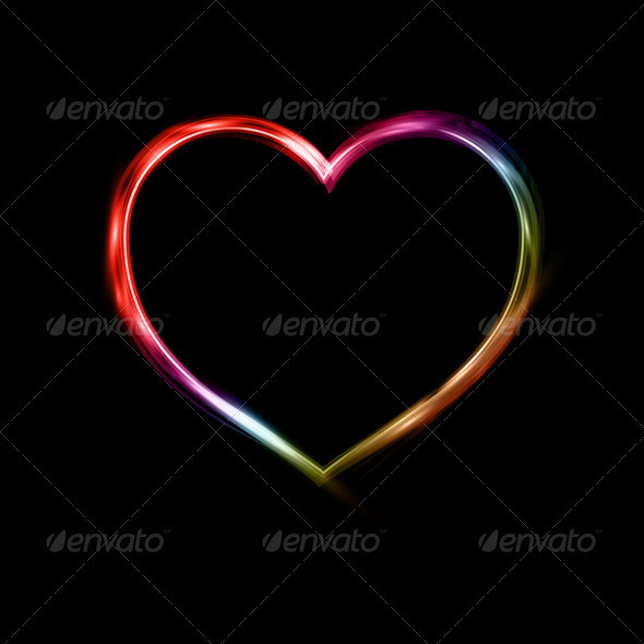 Neon Heart - Backgrounds Decorative