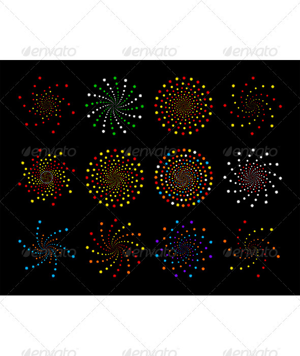 Set of abstract vector design elements - Abstract Conceptual