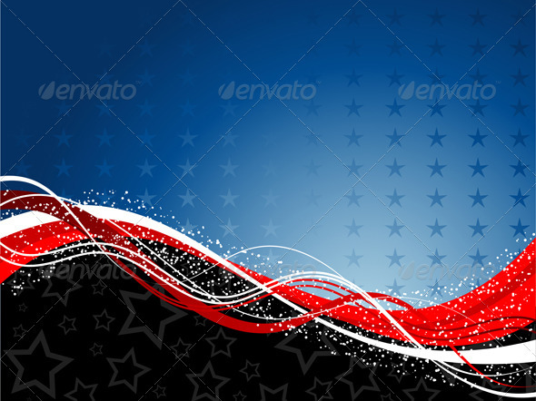 Patriotic background - Seasons/Holidays Conceptual