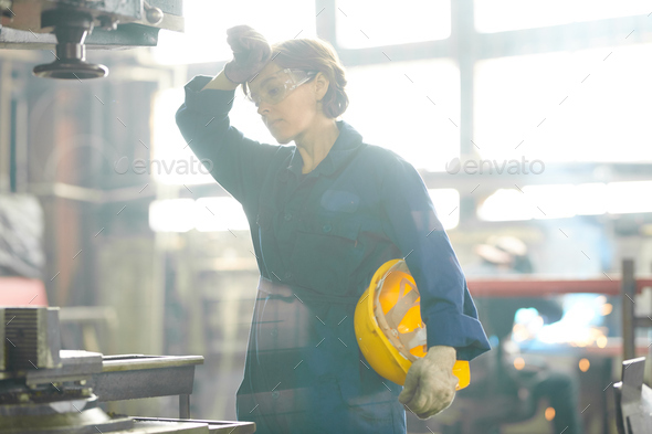 Tired Female Worker - Stock Photo - Images