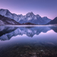 Mountain lake with perfect reflection at sunrise - PhotoDune Item for Sale