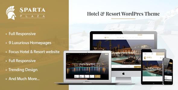 Sparta - Hotel Booking WordPress Theme