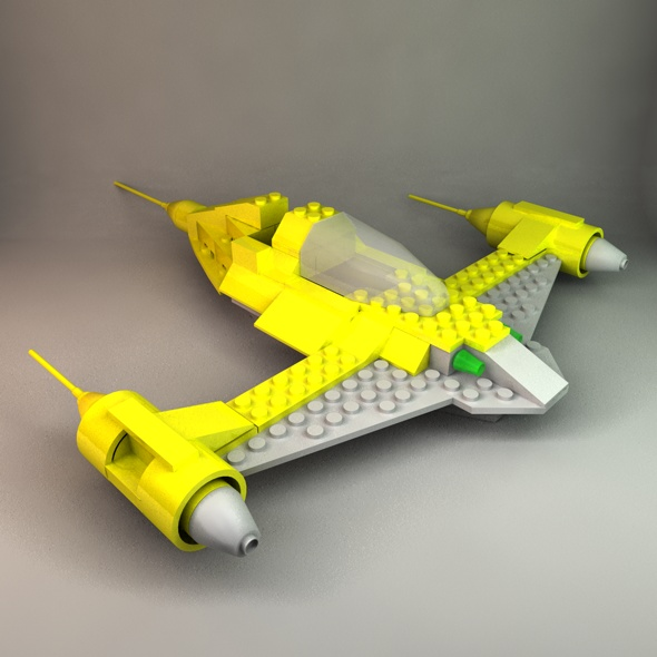 Lego Naboo Fighter - 3DOcean Item for Sale