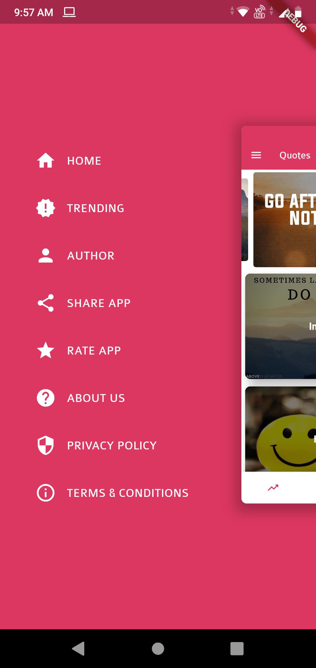 Quotes - Flutter App