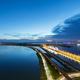 light trails on railway and road bridge - PhotoDune Item for Sale