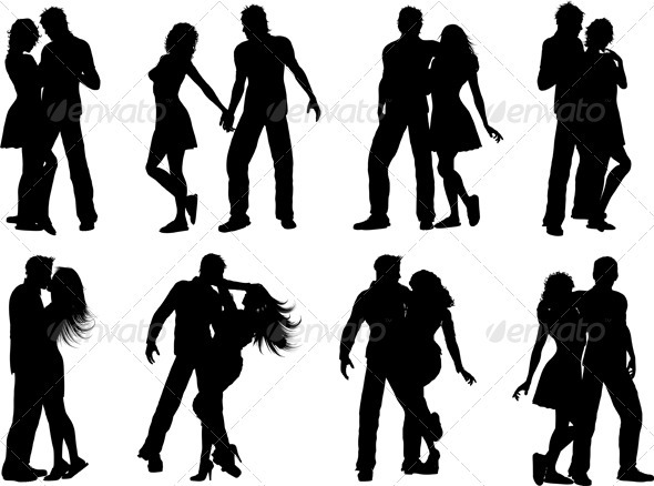 Couples silhouettes - People Characters