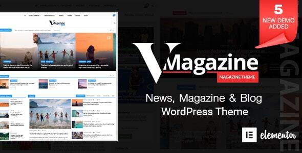 Vmagazine Blog Newspaper Magazine Wordpress Themes
