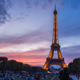 Eiffel Tower Sunset Timelapse - VideoHive Item for Sale