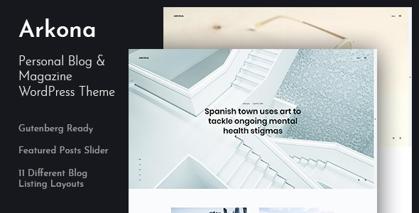 Arkona - Personal Blog & Magazine WordPress Theme