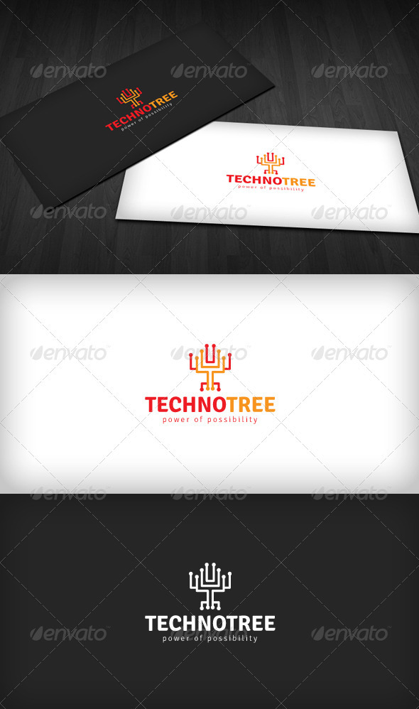Techno Tree Logo - Symbols Logo Templates