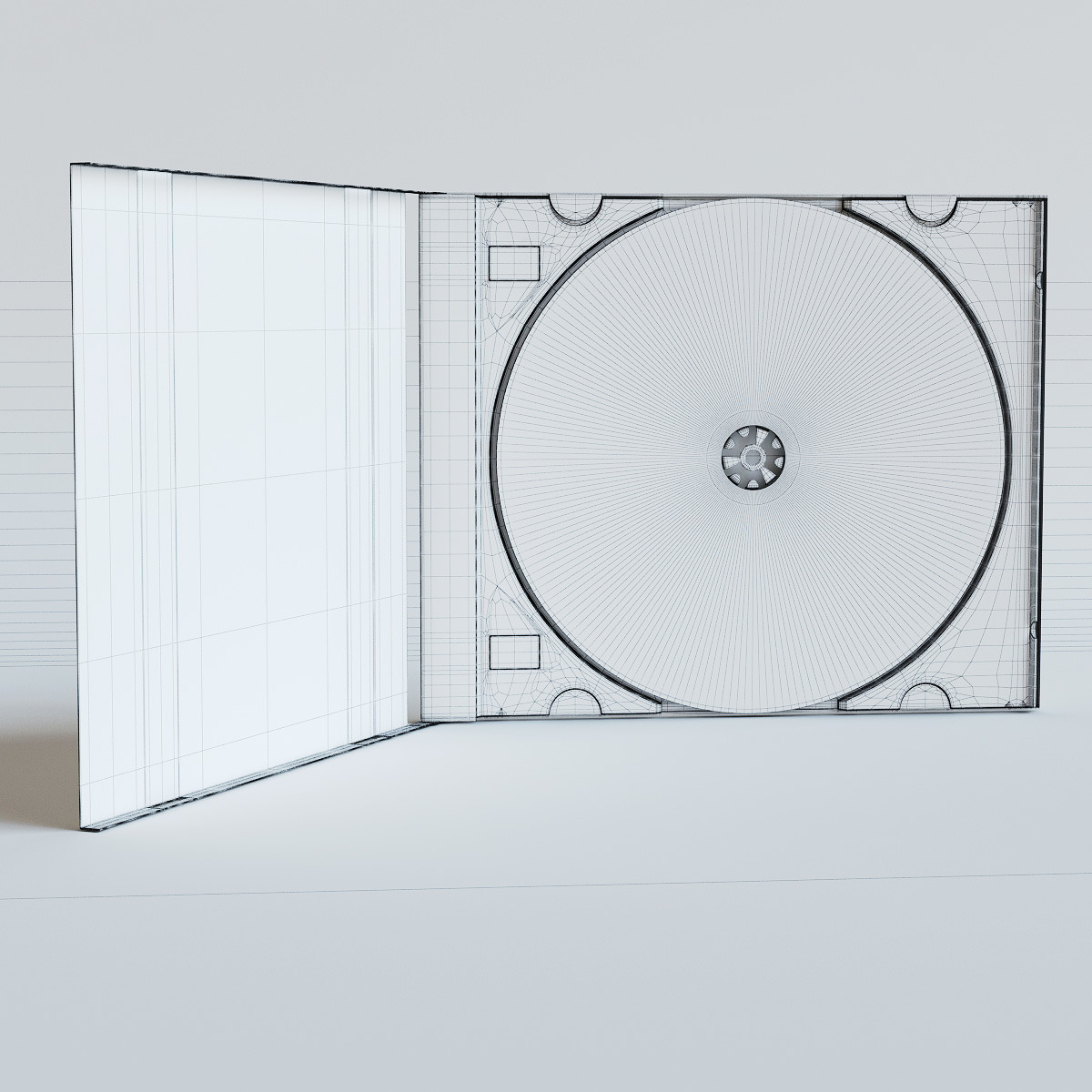 High quality 3d model of cd case and cd disk by rnax 3docean for Render case