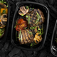 Close up of grilled set for family in take away boxes - PhotoDune Item for Sale