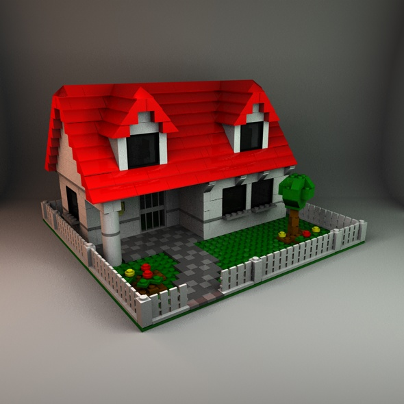 Lego House - 3DOcean Item for Sale
