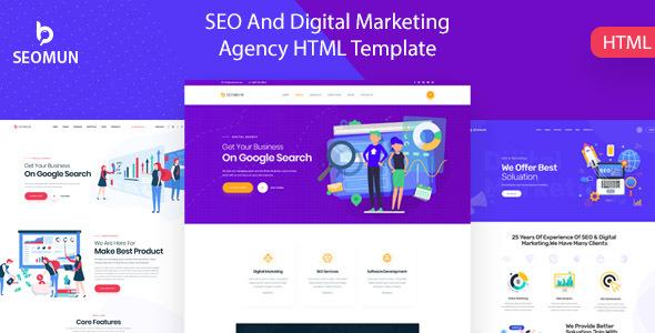 Seomun - Digital Marketing Agency HTML5 Template by Webtend