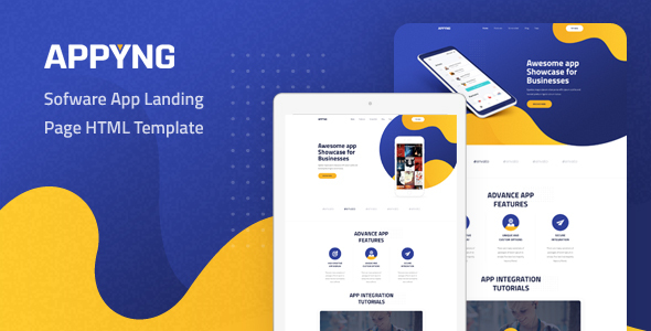 Appyng - App Landing Page HTML Template by Layerdrops