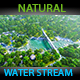 Natural Water Stream And Jungle Dolly Movement  - VideoHive Item for Sale