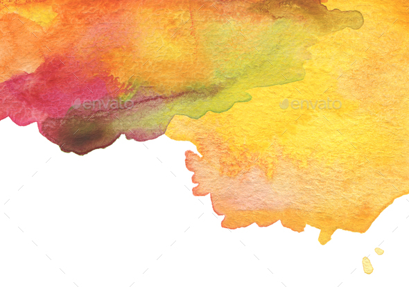 Abstract acrylic and watercolor brush strokes painted background. Texture paper. - Stock Photo - Images