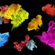 Acrylic colors in water. Ink blot. Abstract black background.  Collection. Set. - PhotoDune Item for Sale