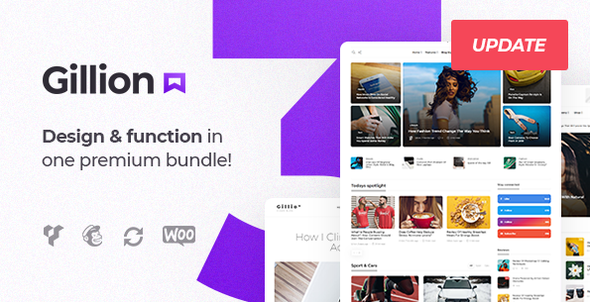 Gillion | Multi-Concept Blog/Magazine & Shop WordPress AMP Theme