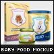 Baby Food Packaging Design Mockup - GraphicRiver Item for Sale