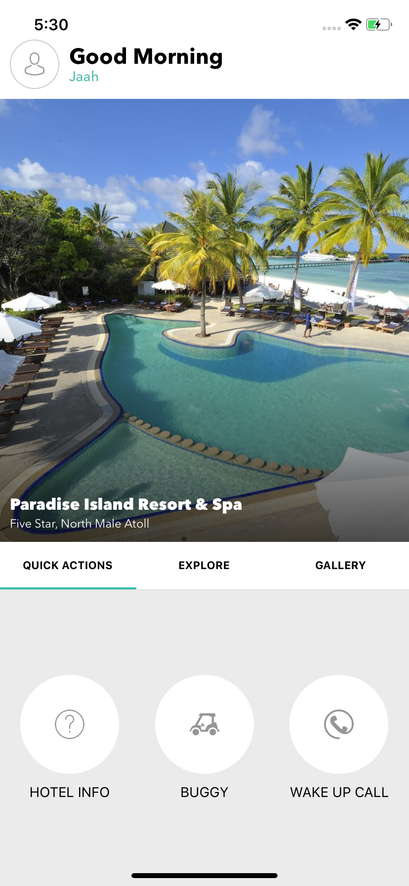 Explore - Restaurant / Hotel React Native Menu  Mobile Application