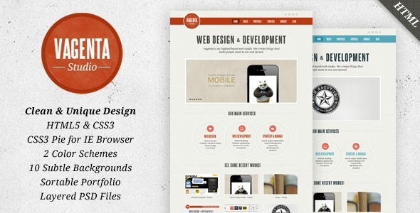 Vagenta 2 in 1 – Clean and Unique HTML Template