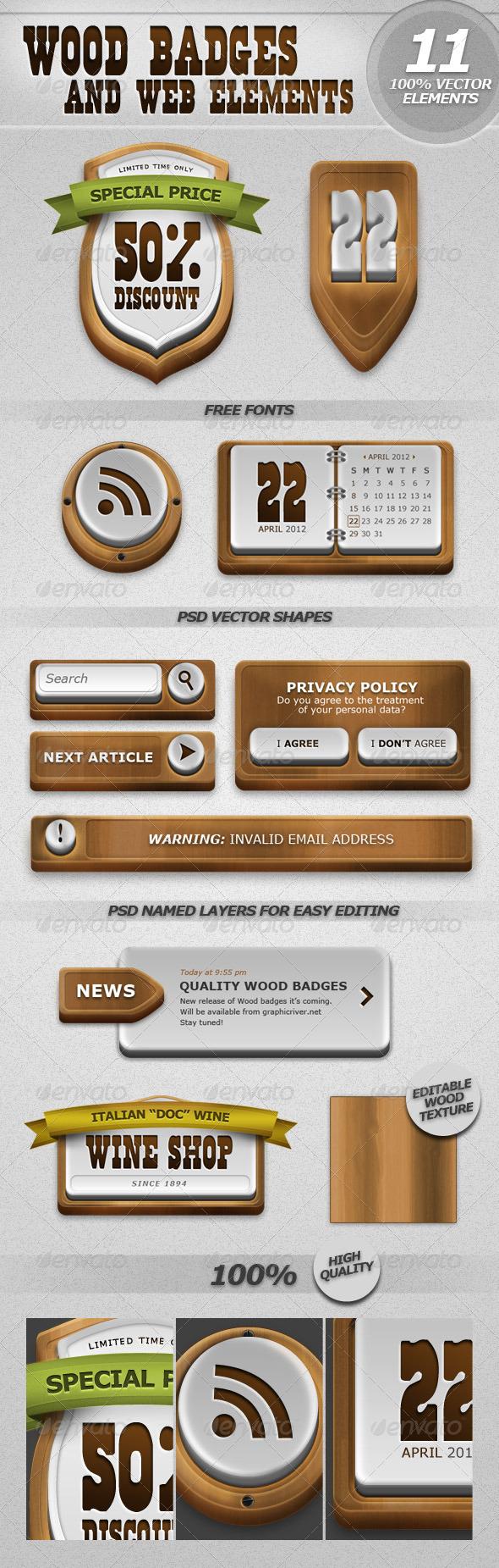 Wood Badges and Web Elements  - Miscellaneous Web Elements