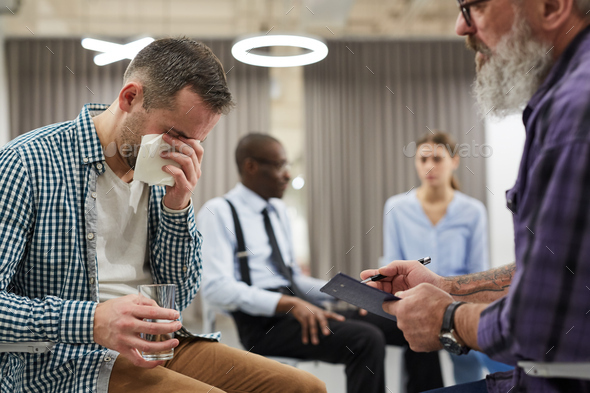 Therapy Session in Support Group - Stock Photo - Images