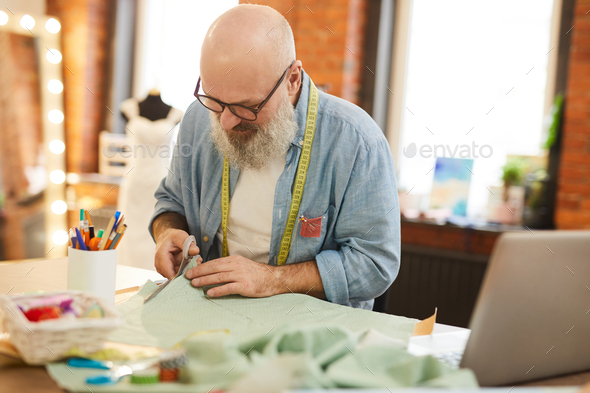 Working in studio of tailoring - Stock Photo - Images