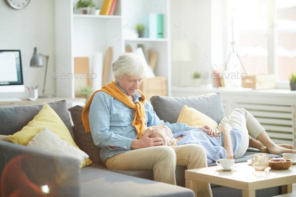 Loving Senior Couple Relaxing - Stock Photo - Images